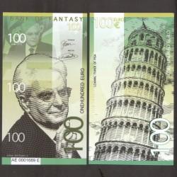BANK OF FANTASY - BILLET DE 100 EURO - SERIE HOMMES POLITIQUES - SERGIO MATTARELLA - 2018