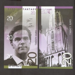 BANK OF FANTASY - BILLET DE 20 EURO - SERIE HOMMES POLITIQUES - MARK RUTTE - 2018