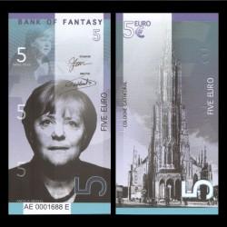 BANK OF FANTASY - BILLET DE 5 EURO - SERIE HOMMES POLITIQUES - ANGELA MERCKEL - 2018