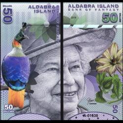 ALDABRA ISLAND - Billet de 50 DOLLARS - Série Oiseaux - Reine Elisabeth II - 2018