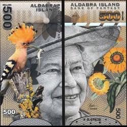 ALDABRA ISLAND - Billet de 500 DOLLARS - Série Oiseaux - Reine Elisabeth II - 2018
