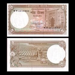 BANGLADESH - Billet de 5 Taka - 1993