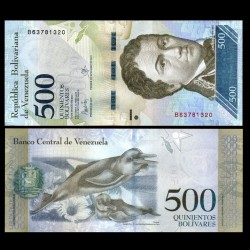 VENEZUELA - Billet de 500 Bolivares - 23.03.2017 P94b