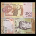 VENEZUELA - Billet de 2000 Bolivares - 19 08 2016