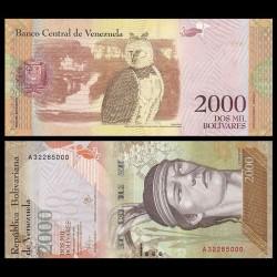 VENEZUELA - Billet de 2000 Bolivares - 19 08 2016 P96a1