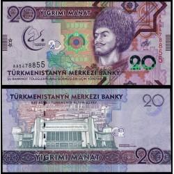 TURKMENISTAN - Billet de 20 Manat - 2017