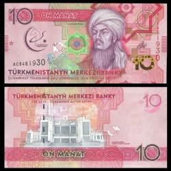 TURKMENISTAN - Billet de 10 Manat - 2017