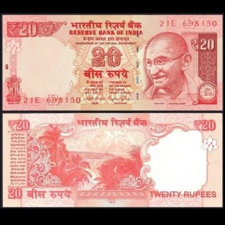 INDE - Billet de 20 Roupies - 2015