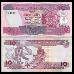 SALOMON (ILES) - Billet de 10 DOLLARS - 1986