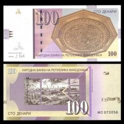 MACEDOINE DU NORD - Billet de 100 Denari - Ville de Skopje - 2018 P16l