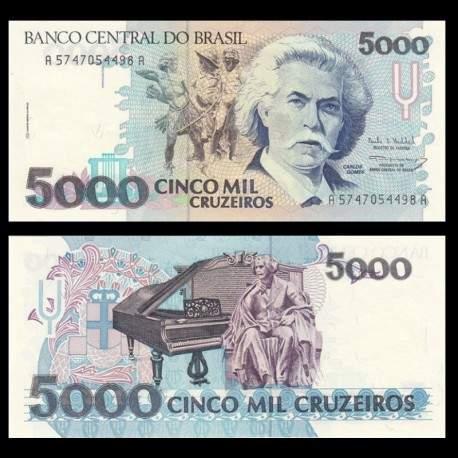BRESIL - Billet de 5000 Cruzeiros - 1990