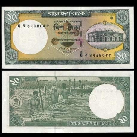 BANGLADESH - Billet de 20 Taka - 2011