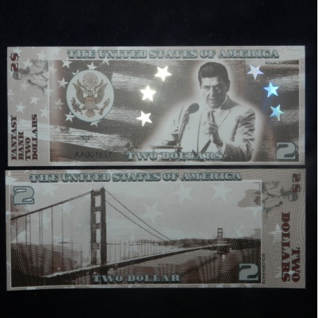 ETATS UNIS - Billet de 2 Dollars - Serie Présidents: Ronald Reagan - 2018 USPresid2