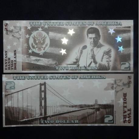 ETATS-UNIS - Billet de 2 Dollars - Serie Présidents: Ronald Reagan - 2018