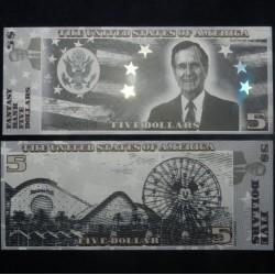 ETATS-UNIS - Billet de 5 Dollars - Serie Présidents : George HW Bush - 2018