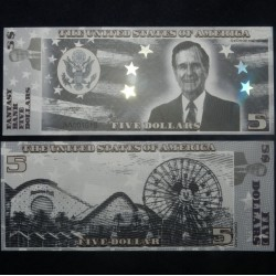 ETATS-UNIS - Billet de 5 Dollars - Serie Présidents: George HW Bush - 2018