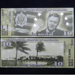 ETATS-UNIS - Billet de 10 Dollars - Serie Présidents : Bill Clinton - 2018