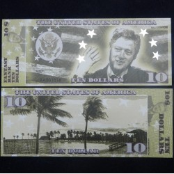ETATS-UNIS - Billet de 10 Dollars - Serie Présidents : Bill Clinton - 2018