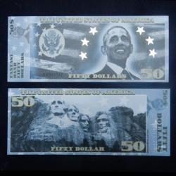 ETATS UNIS - Billet de 50 Dollars - Serie Présidents: Barrack Obama - 2018
