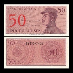 INDONESIE - Billet de 50 Sen - 1964