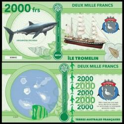 ILE TROMELIN - Billet de 2000 Francs - Série Requin: Grand requin blanc - 2018 002000
