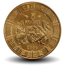 AFRIQUE CENTRALE / BEAC - PIECE de 5 FRANCS CFA - 2006