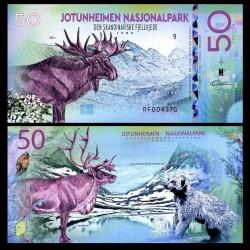 NATIONAL PARK / PARC NATIONAUX - Parc national de Jotunheimen - Billet de 50 Kroner - REINE - 2018