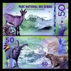 NATIONAL PARK / PARC NATIONAUX - Parc national des Écrins - Billet de 50 Francs - BOUQUETIN ALPIN - 2018