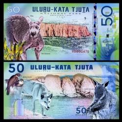 NATIONAL PARK / PARC NATIONAUX - Parc national d'Uluṟu-Kata Tjuṯa - Billet de 50 Dollars - KANGOUROU ROUGE - 2018