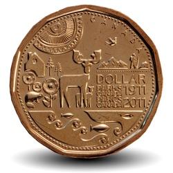 CANADA - PIECE de 1 DOLLAR - Centenaire de Parcs Canada 1911-2011 - 2011 Km#1166