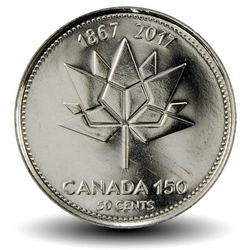 CANADA - 50 CENTS - Logo Canada 150 ans - 2017