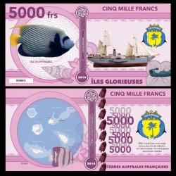 ILES GLORIEUSES - Billet de 5000 Francs - Série Poissons: Uca Clophthalmus - 2018