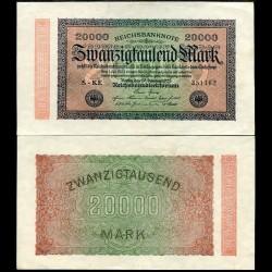 ALLEMAGNE / REICHSBANK - Billet de 20000 Mark - 1923