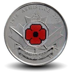 CANADA - PIECE de 25 CENTS - Coquelicot - 2008 Km#775