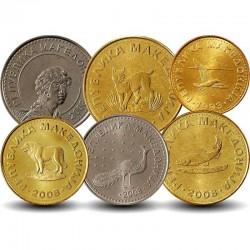 MACEDOINE DU NORD - SET / LOT de 6 PIECES de 1 2 5 10 50 100 Denari - 1993 2008 Km#1 2 3 4 31 32