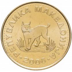 MACEDOINE DU NORD - PIECE de 5 Denari - Lynx - 2006 Km#4