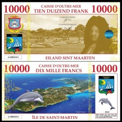 SAINT MARTIN / SINT MAARTEN - Billet de 10000 Francs - Dauphin - 2018 010000