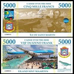 SAINT MARTIN / SINT MAARTEN - Billet de 5000 Francs - Iguane - 2018 005000