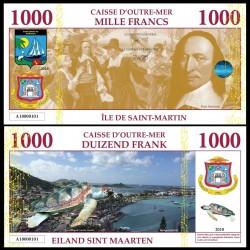 SAINT MARTIN / SINT MAARTEN - Billet de 1000 Francs - Tortue - 2018