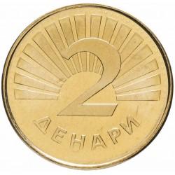 MACEDOINE - PIECE de 2 Denari - Truite - 2001