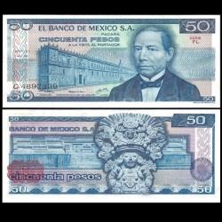 MEXIQUE - Billet de 50 Pesos - Benito Juárez - 05.07.1978