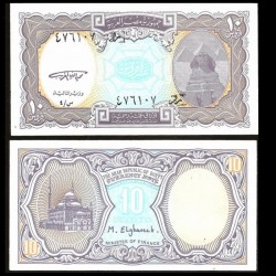 EGYPTE - Billet de 10 Piastres - Sphinx, pyramides de Gizeh - 1998
