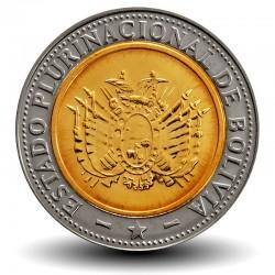 BOLIVIE - PIECE de 5 Bolivianos - 2012