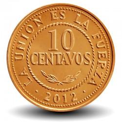 BOLIVIE - PIECE de 10 Centavos - 2012