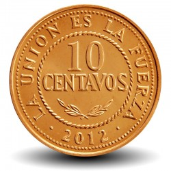 BOLIVIE - PIECE de 10 Centavos - 2012