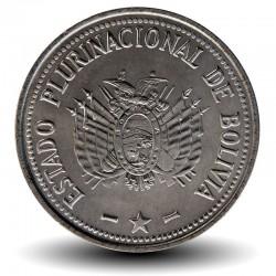 BOLIVIE - PIECE de 50 Centavos - 2010