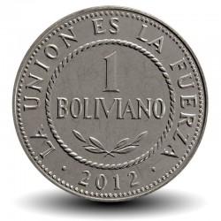 BOLIVIE - PIECE de 1 Boliviano - 2012