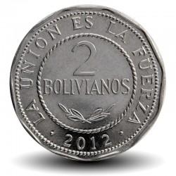 BOLIVIE - PIECE de 2 Bolivianos - 2012