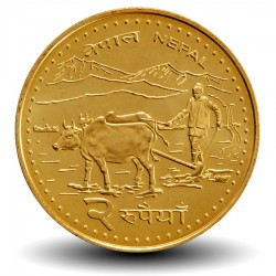 NEPAL - PIECE de 2 Roupies - Agriculteur - 2006 - २०६३ Km#1188