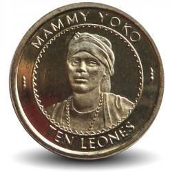 SIERRA LEONE - Pièce de 10 Leones - Mammy Yoko - 1996 Km#44